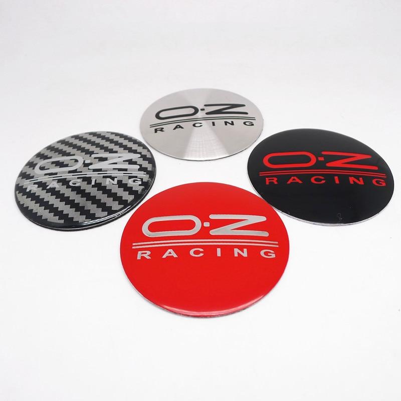 4 шт. 55 мм OZ Racing центра колеса Кепки наклейки автомобильные обода концентратор Кепки s эмблемы