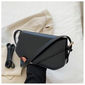 Charm Pure Color Retro Shoulder Baguette Bags For Women Quality PU Leather Commuter Crossbody Bag Female Handbag Trend Designer