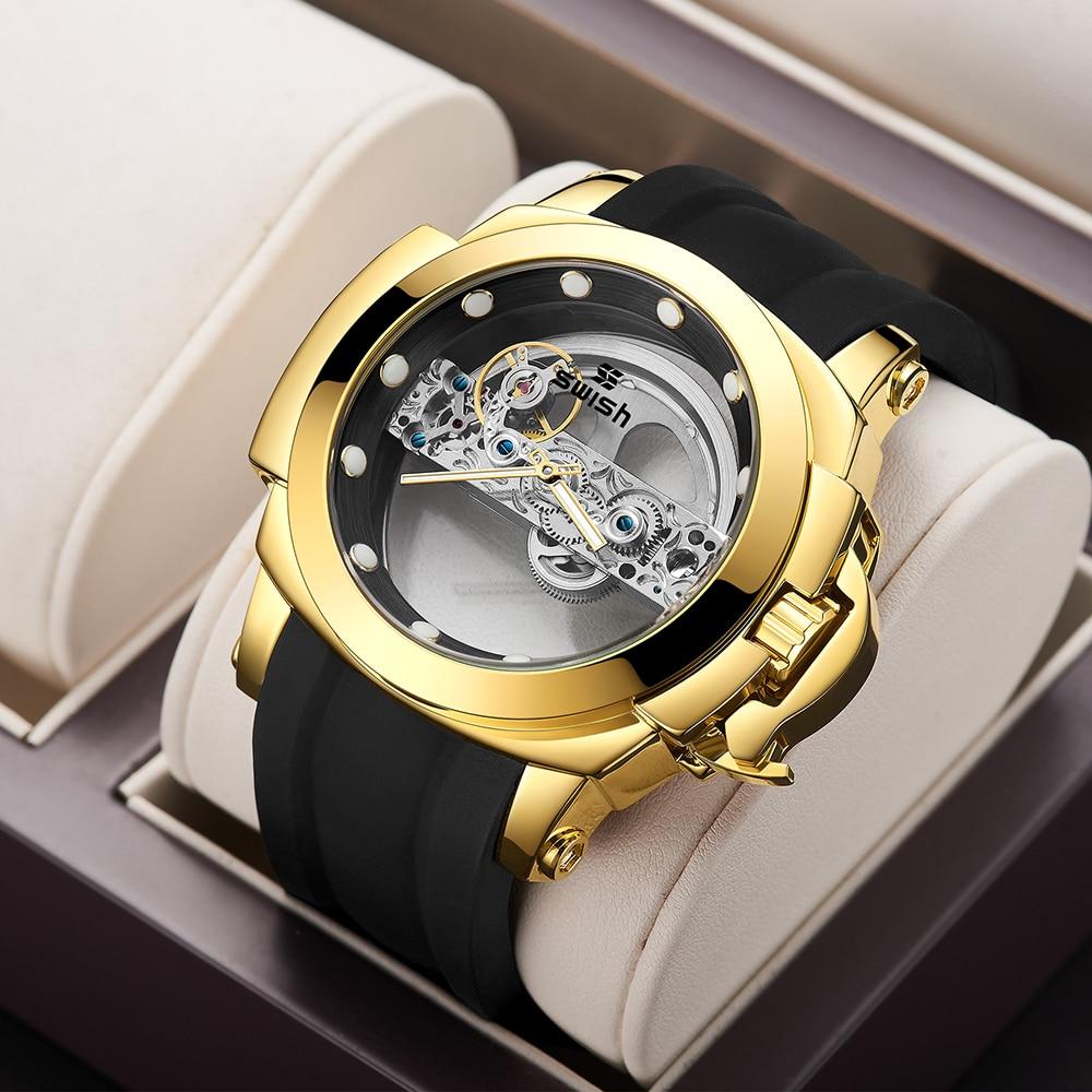 Relogio Masculino Men Watch Top Brand Mens Mechanical Watches Automatic Tourbillon Skeleton Luminous Men Sport Wristwatch enlarge