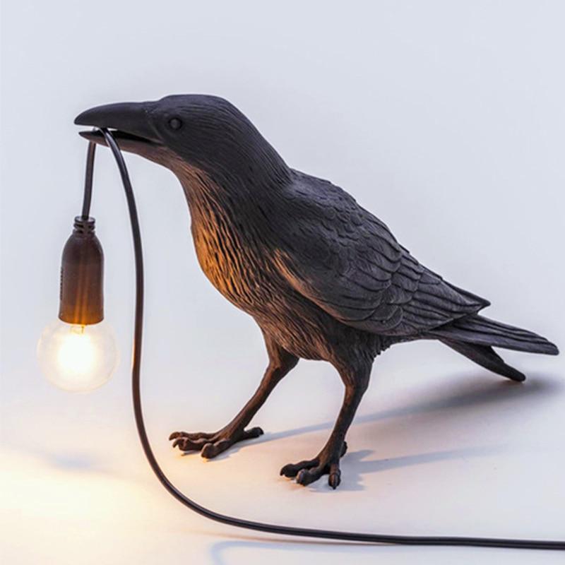 محظوظ الطيور الجدول مصباح led مصباح غرفة المعيشة ديكو نوم مصابيح إضاءة داخلية أباجورة أضواء ديكور المنزل جدار تركيبات إضاءة