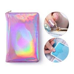 NICOLE DIARY 72 слота Чехол для штамповочной Пластины Лазерный серебристый розовый прямоугольник круглая тарелка-органайзер для дизайна ногтей сумка-держатель