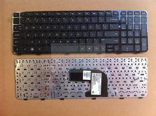 Novo teclado original para hp pavilion dv6 dv6-7000 dv6-7001tx dv6-7002tx dv6-7208tx com quadro preto NSK-CK0UW 607321-001
