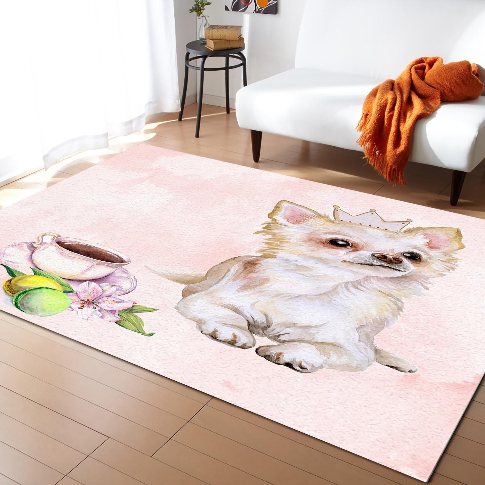 الكلب فنجان القهوة المائية اللوحة السجاد لغرفة النوم ديكور المنزل السجاد Kawaii السجاد و السجاد ل غرفة المعيشة المنزلي