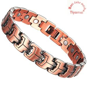 Magnetic copper bracelet for men, arthritis pain reliever, powerful magnet for wrist therapy, tools and gift boxes