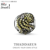 beads green octopus silver rhinestone beads fits bracelet europe jewelry thanksgiving gift for women men