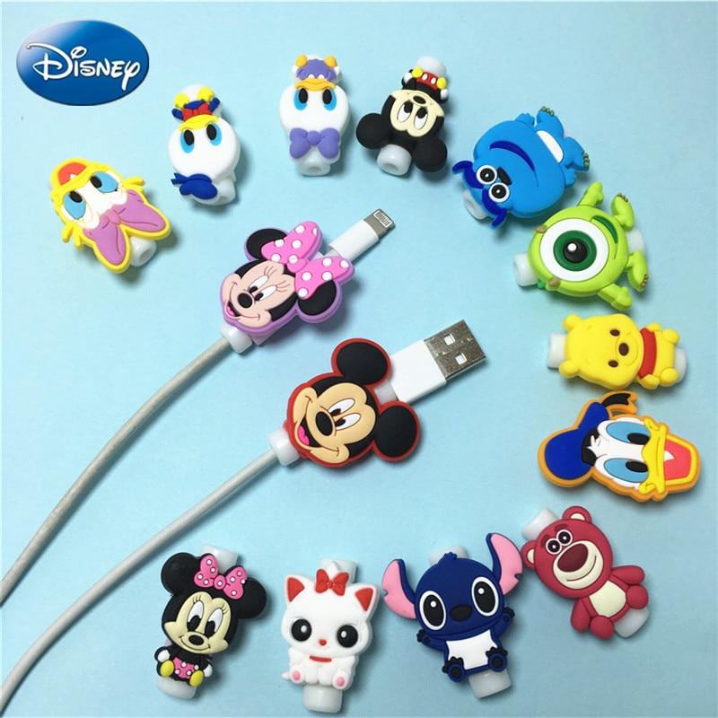 1pcs Disney Protector de Cable USB de línea de datos Protector de...