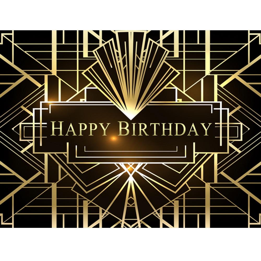 El gran Gatsby fotografía Backdrops Gatsby feliz banderines para fiesta de cumpleaños decoración Foto fondo sesión de estudio