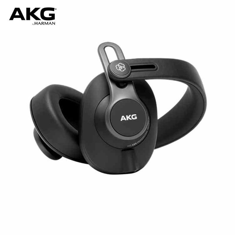 AKG K371-سماعة رأس لاسلكية مزودة بتقنية البلوتوث/سماعة رأس سلكية مزدوجة ، تحكم مغلق بالكامل ، مهندس صوت احترافي ، HIFI
