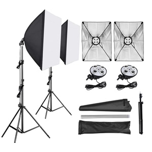 Софтбокс для фотостудии 50*70 см, диффузор 4 в 1, патрон для лампы E27, штатив для светильник 2 м, комплект для фотостудии, для фотографии и видео