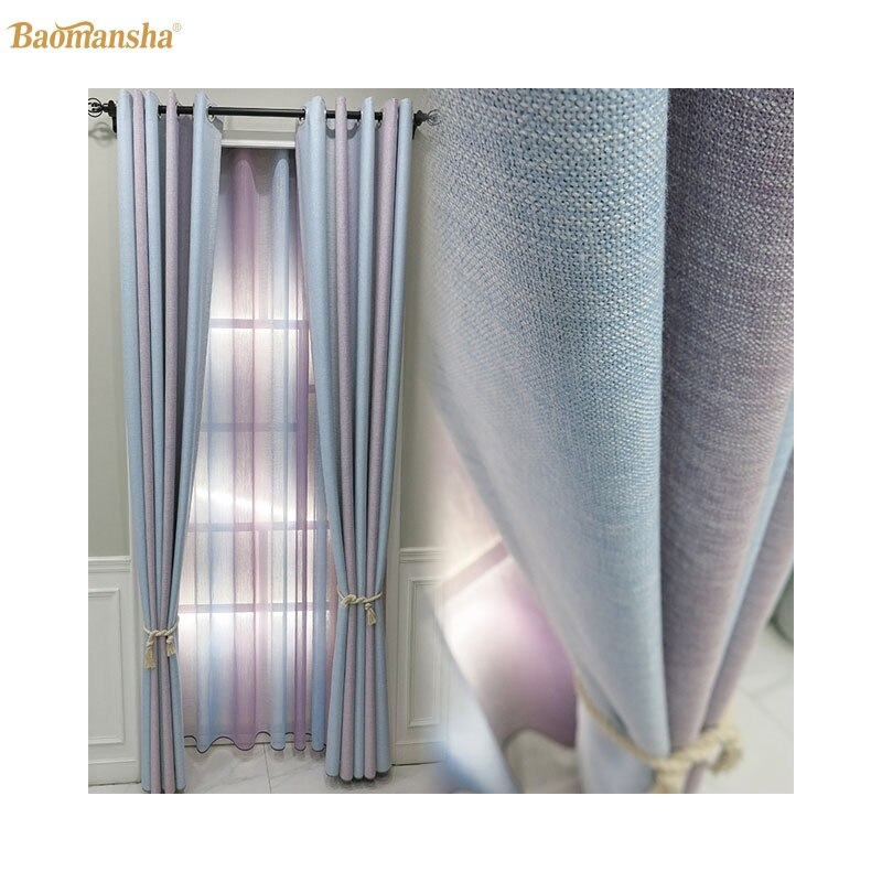 Cortinas modernas a juego de colores para sala de estar dormitorio decoración Cortinas tela francesa cuerda de ventana