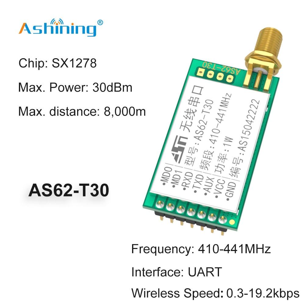 433mhz 500mW LoRa Sx1278 AS62-T30 Wireless Long Range Transmitter Receiver RF Module FEC enlarge
