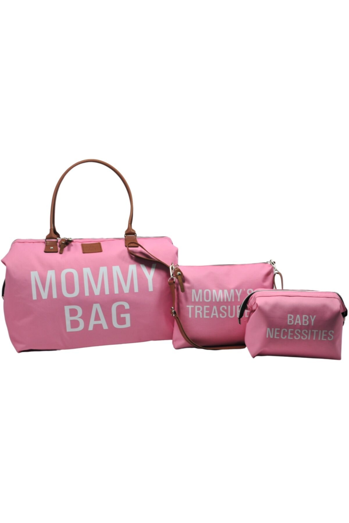 Комплект из 3 предметов для мамы, Сумка розовая для мамы, ухода за ребенком и женщины, Детская мини сумка, сумка на плечо для мамы, сумка для ла...