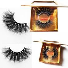 25mm High Quality 3D true Mink Hair 3D Protein Silk Eyelashes Dramatic Lashes 25 mm Handmade False Eyelash Eye Makeup Maquiagem