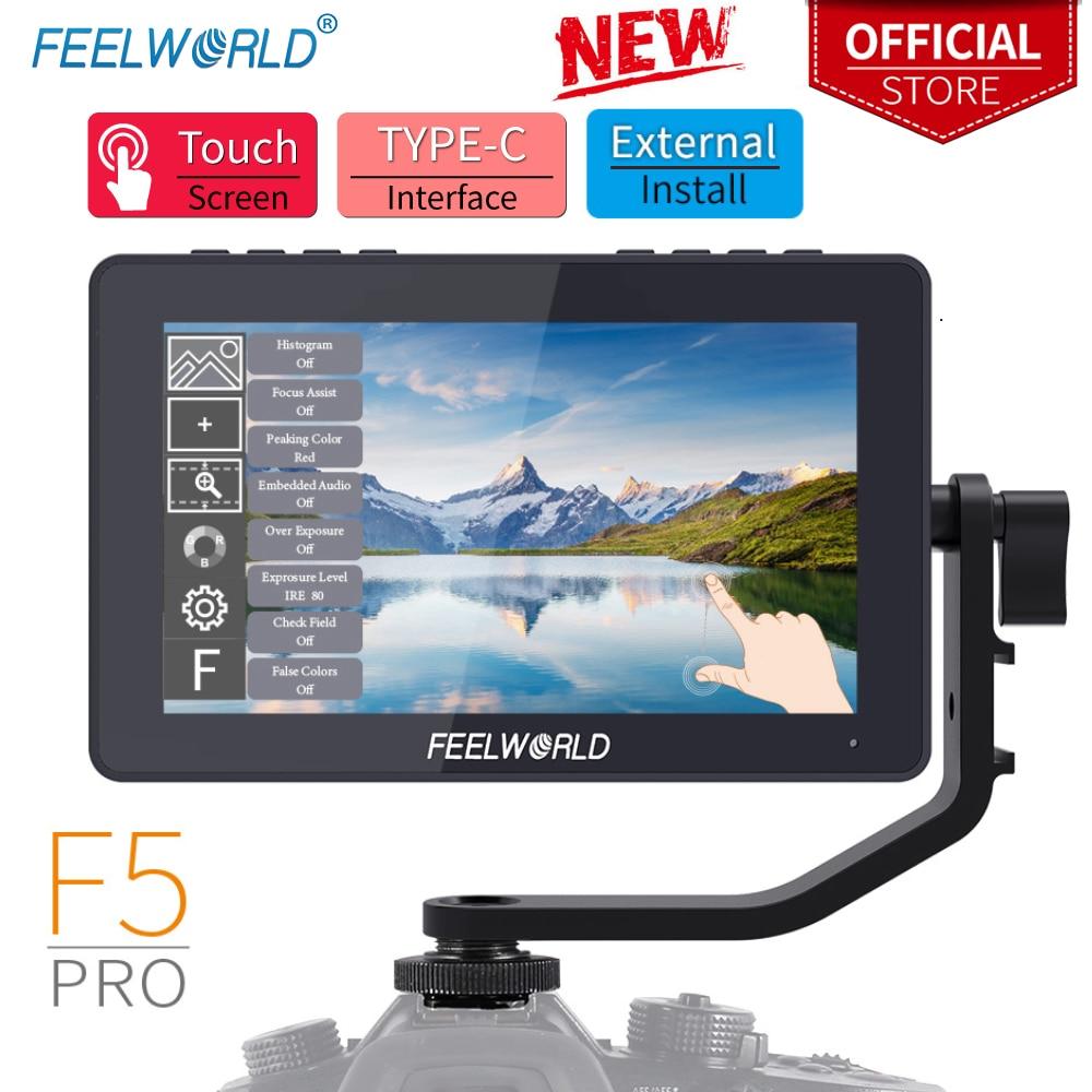 Feel world F5 Pro 5.5 بوصة على DSLR كاميرا المجال شاشات مراقبة تعمل باللمس IPS FHD1920x1080 4K HDMI فيديو التركيز مساعدة ل Gimbal تلاعب