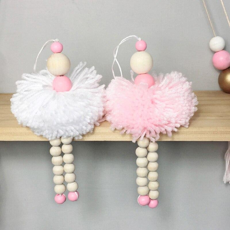 AliExpress - Ballet Dancer Hanging Decoration Nordic Wooden Beads Toy Children Kids Room Nursery Wall Ornaments Baby Girl Bedroom Photo Props