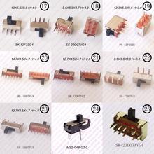 Mini interrupteur à glissière sur 10 pièces   Micro-interrupteur à bascule 1P2T/2P3T H = 2MM/3MM/4MM, interrupteur à glissière horizontale Miniature SMD/DIP