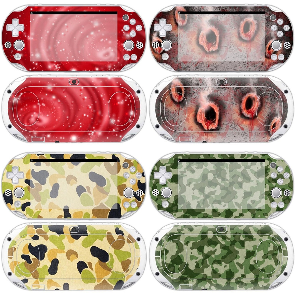 New custom video game for sony ps vita 2000 decals accessories hot sale vinyl decal cover skin stick