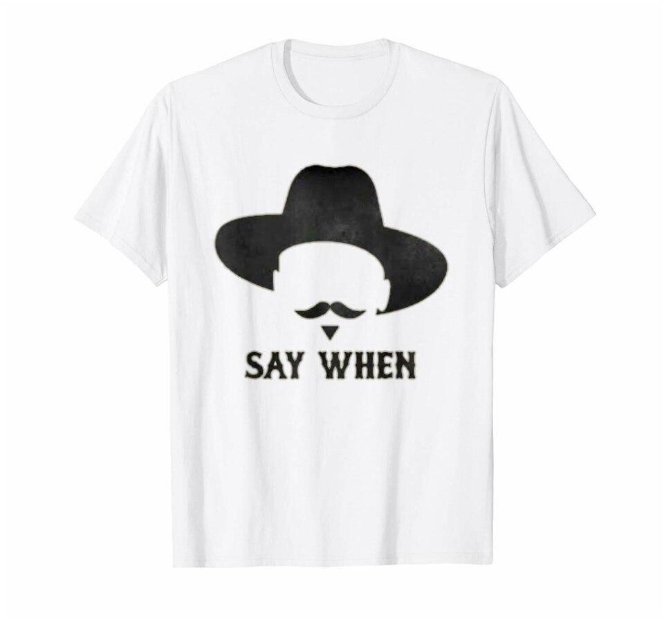 Say WH, camiseta blanca de vaquero con diseño de Tombstone y el Sr. Stark, S-3Xl de moda para ropa de calle, camiseta de doctor Holliday Behan