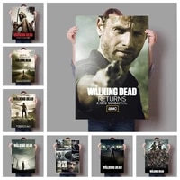 american horror zombie doomsday tv star prints poster series the walking dead season hight quality canvas painting wall picture