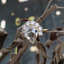 Délicat cubique Zircon coupe Halo éternel fiançailles bague en or mode charme blanc cristal femme promesse anneaux anniversaire bijoux
