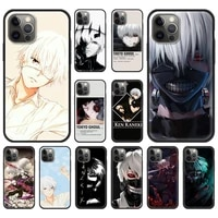 japanese anime tokyo ghoul fundas phone case cover bag for iphone 11 12 pro xs max 8 7 plus x xr silicone soft shell back coque