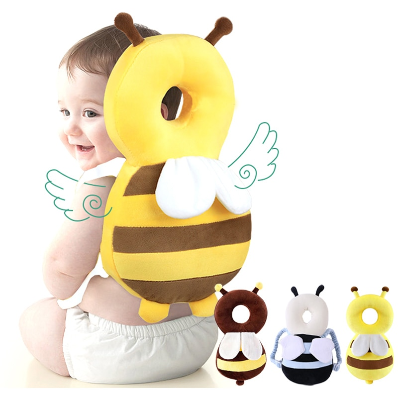 Baby Head Protection Pillow Cartoon Infant Anti-fall Pillow Soft PP Cotton Toddler Children Protecti