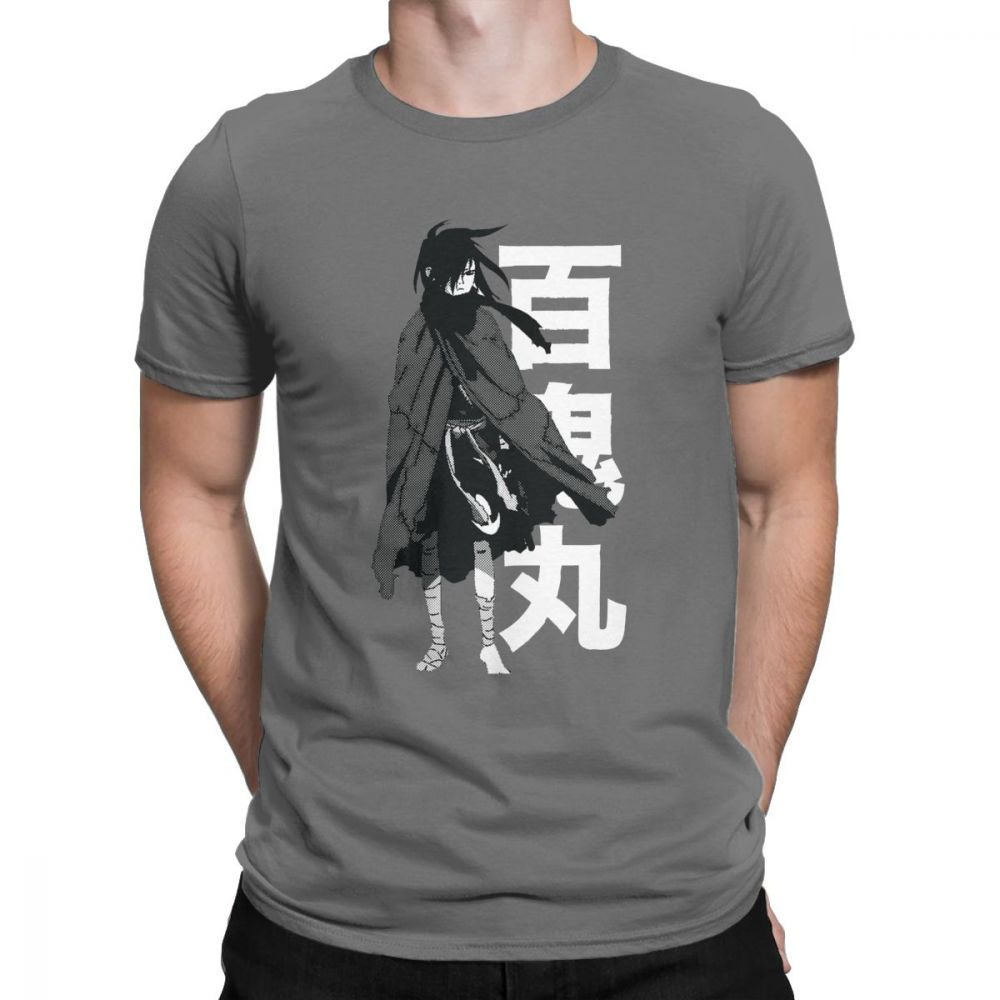 Camiseta para hombre, Dororo Hyakkimaru, ropa informal con impresión navideña, Camiseta de algodón Premium, camiseta de manga corta, Tops de cuello redondo de talla grande
