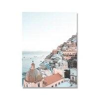 Affiche de fleurs de la cote ditalie  paysage de mer  decor mural  decoration de maison  citation de reve  peinture sur toile