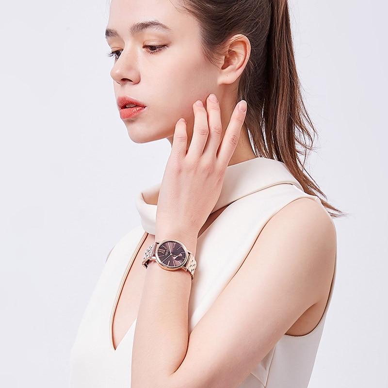 Julius Women's Watch Metal Bracelet Fashion Luxury Dress Ladies Wristwatch Men's Miyota Quartz Unisex Stainless Steel Julius Box enlarge
