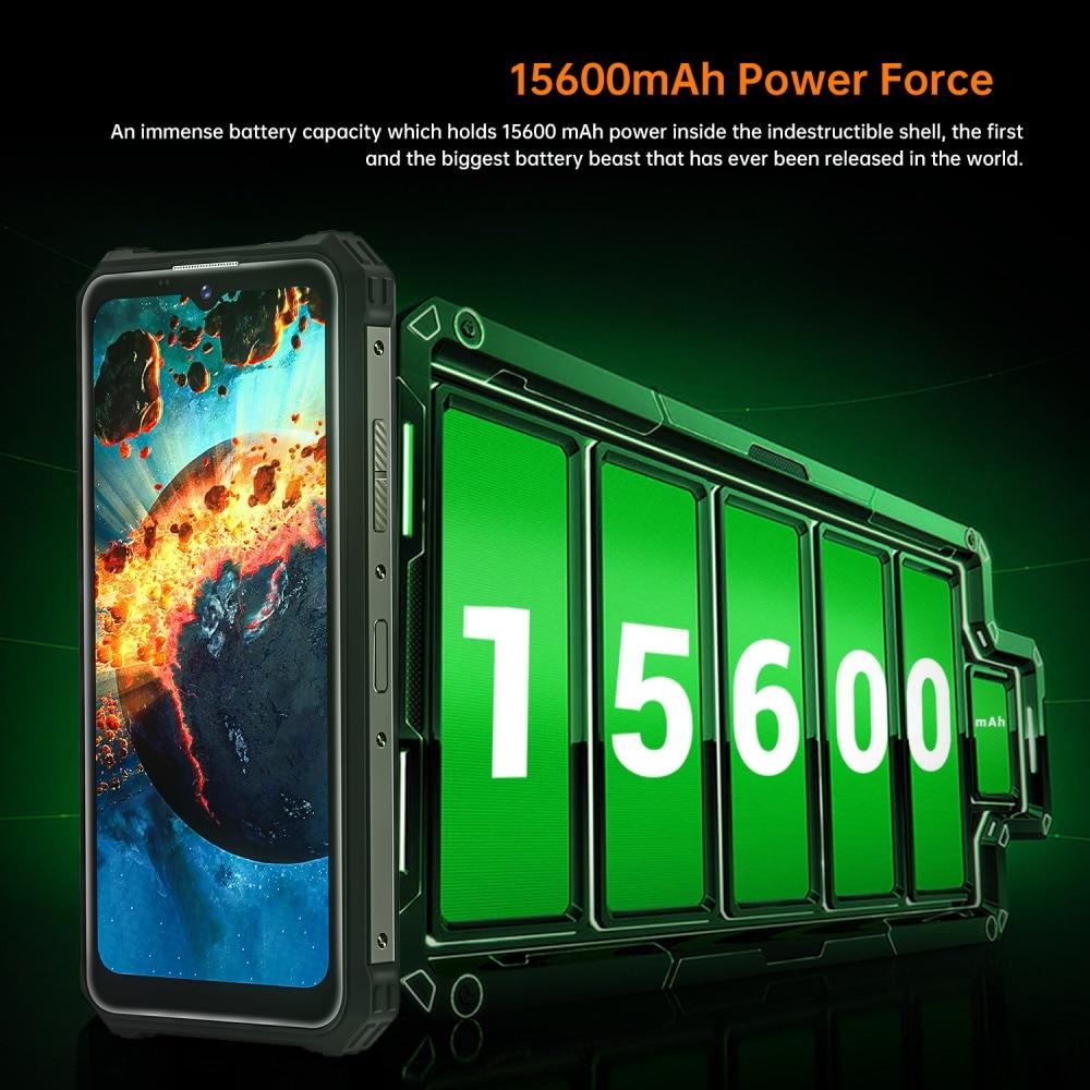 OUKITEL WP15 Waterproof Smartphone15600mAh 8GB+128GB 6.5