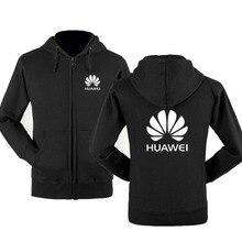 2020NEW Autumn winter Huawei logo zipper sweatshirts Printed Men fleecel Hooded jacket Hoodies Zippe
