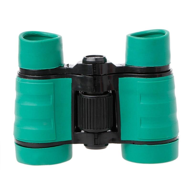 Rubber 4X 30mm Adjustable Mini Lightweight Binoculars For Kids Toy Compact 203C