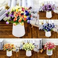 Bouquet de roses de lavande artificielles  15 1 lot  fausses fleurs  pour decorer la maison  pour une fete ou un mariage