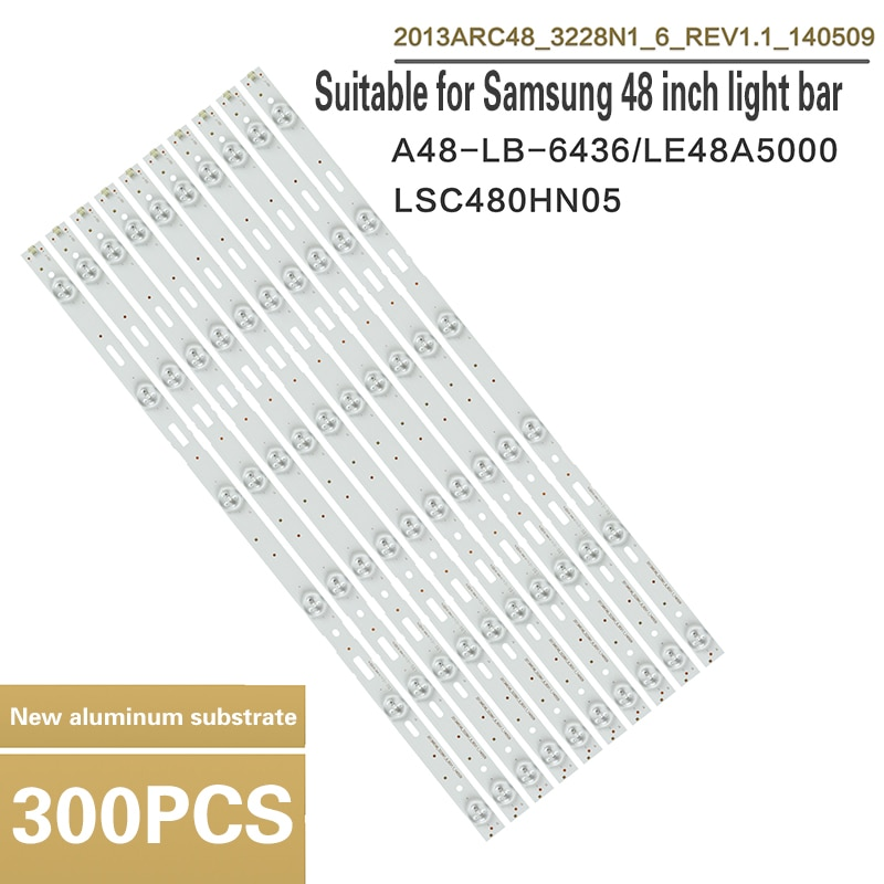 LED backlight strip is suitable for Samsung 48-inch TV A48-LB-6436 LE48A5000 LSC480HN05 48VLE5421BG B48-LW-5433 48VLE5520BG 48VL