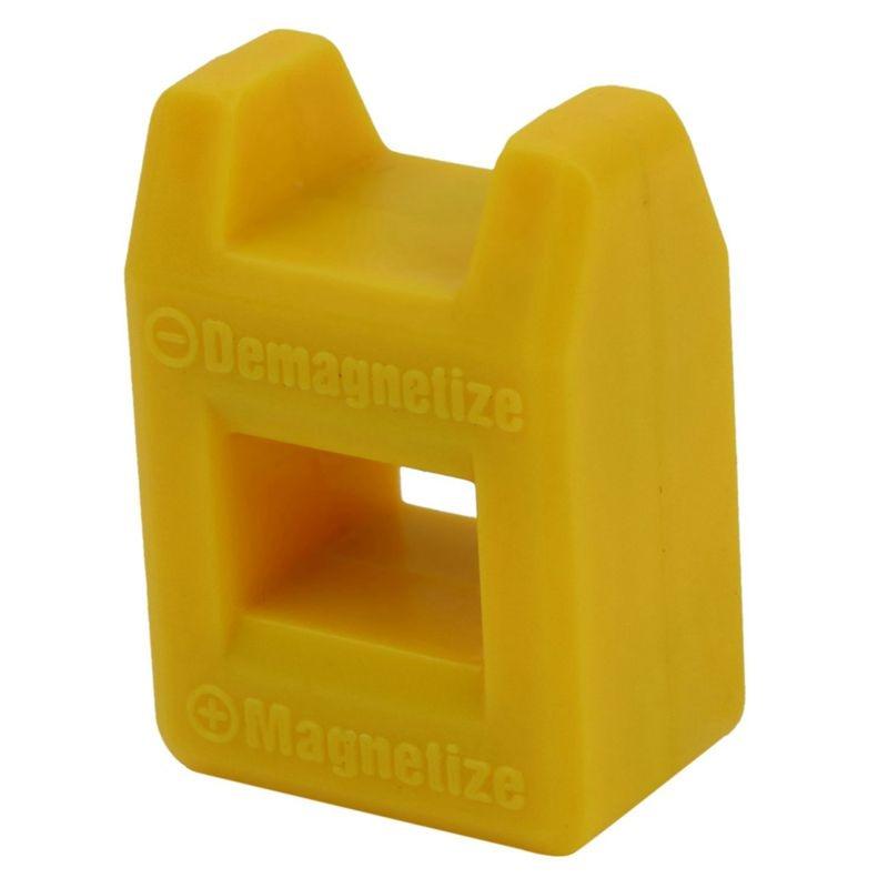 Promoción Destornillador magnetizador desmagnetizador magnético práctico Color de la herramienta de recogida amarillo