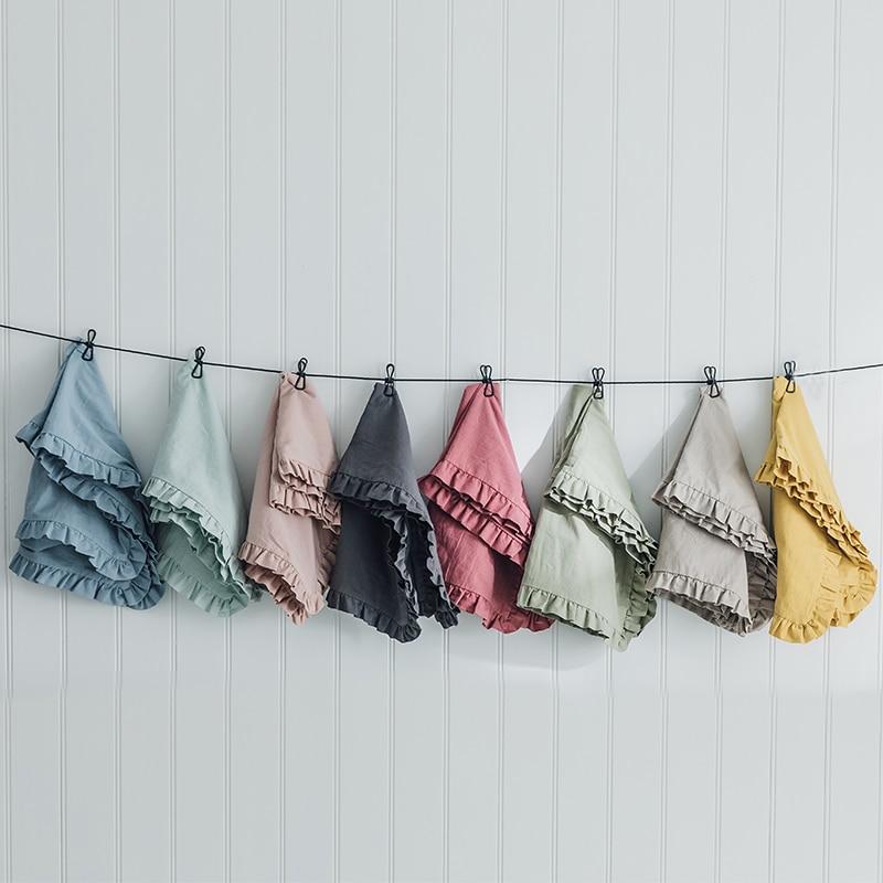 لون نقي القطن الخالص غسلها القطن المخدة منتج واحد مطوية عادي عادي 48*74 سم الكبار الفراش