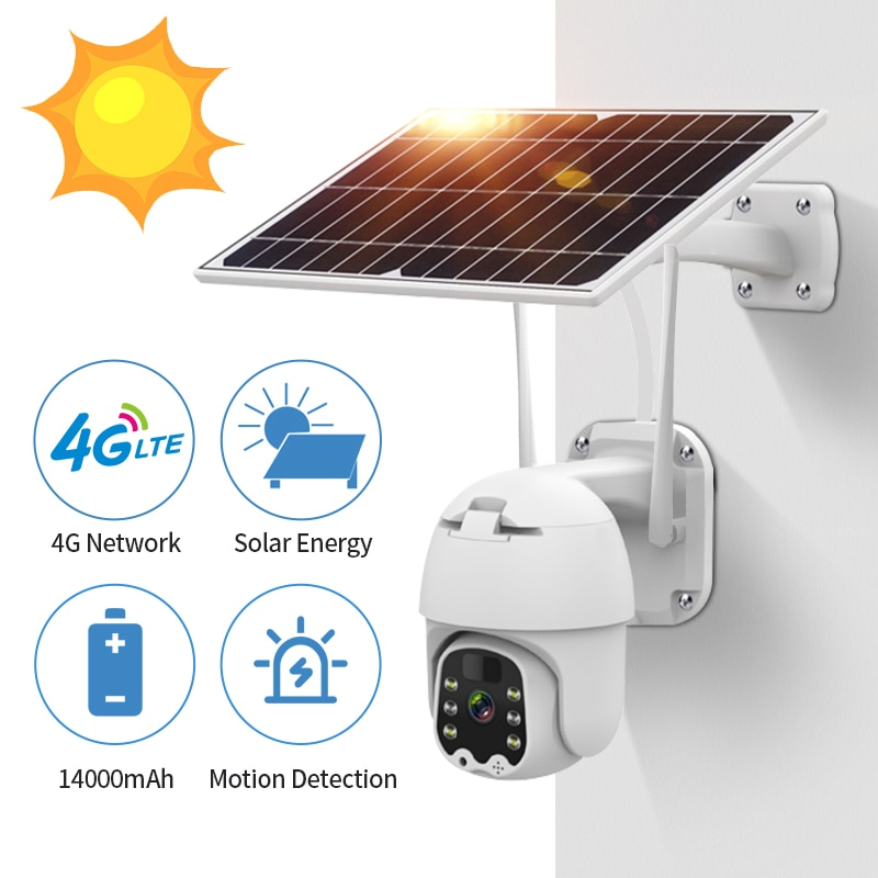 1080P 4G Solar Powered Wireless Security WIFI Camera Outdoor Human Detection Rechargeable Battery Waterproof Cam