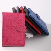 persian cat passport holder pu passport holder buckle card holder animal pattern card holder waterproof leather case