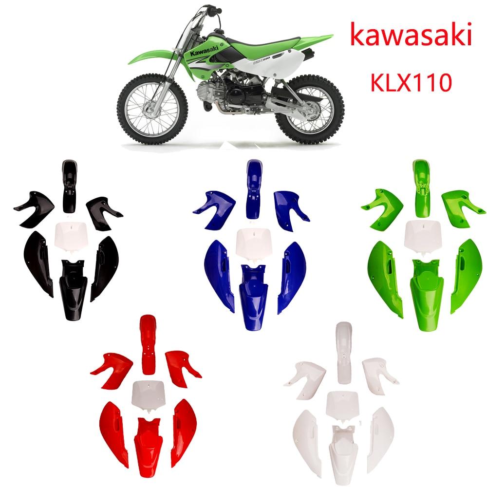 Пластиковый корпус для мотоцикла Kawasaki KLX110, пластиковый корпус klx65, Пластиковый обтекатель крыла, подходит для Kawasaki KLX110 Klx65 2000-2015