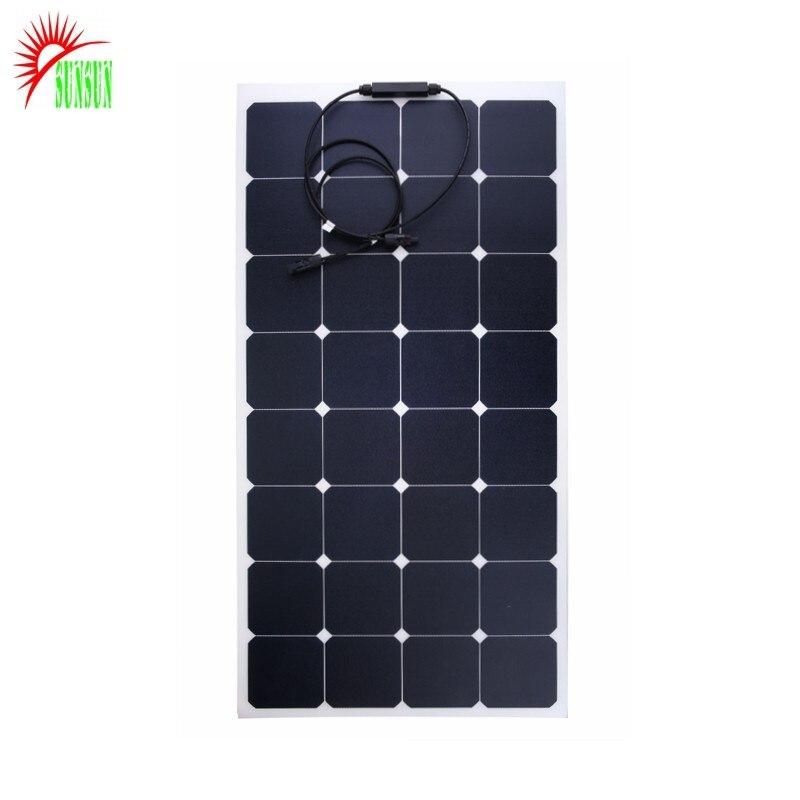 23% عالية الكفاءة Sunpower مقاوم للماء 110 واط 18 فولت ETFE شبه مرنة لوح شمسي جهدي ضوئي