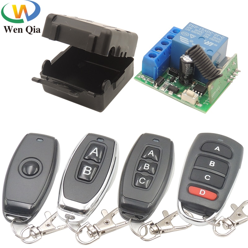 Wireless RF 433Mhz Universal DC12V 1CH Smart light switch Transmitter Garage Lamp Family Intelligence System Doors Gates Windows