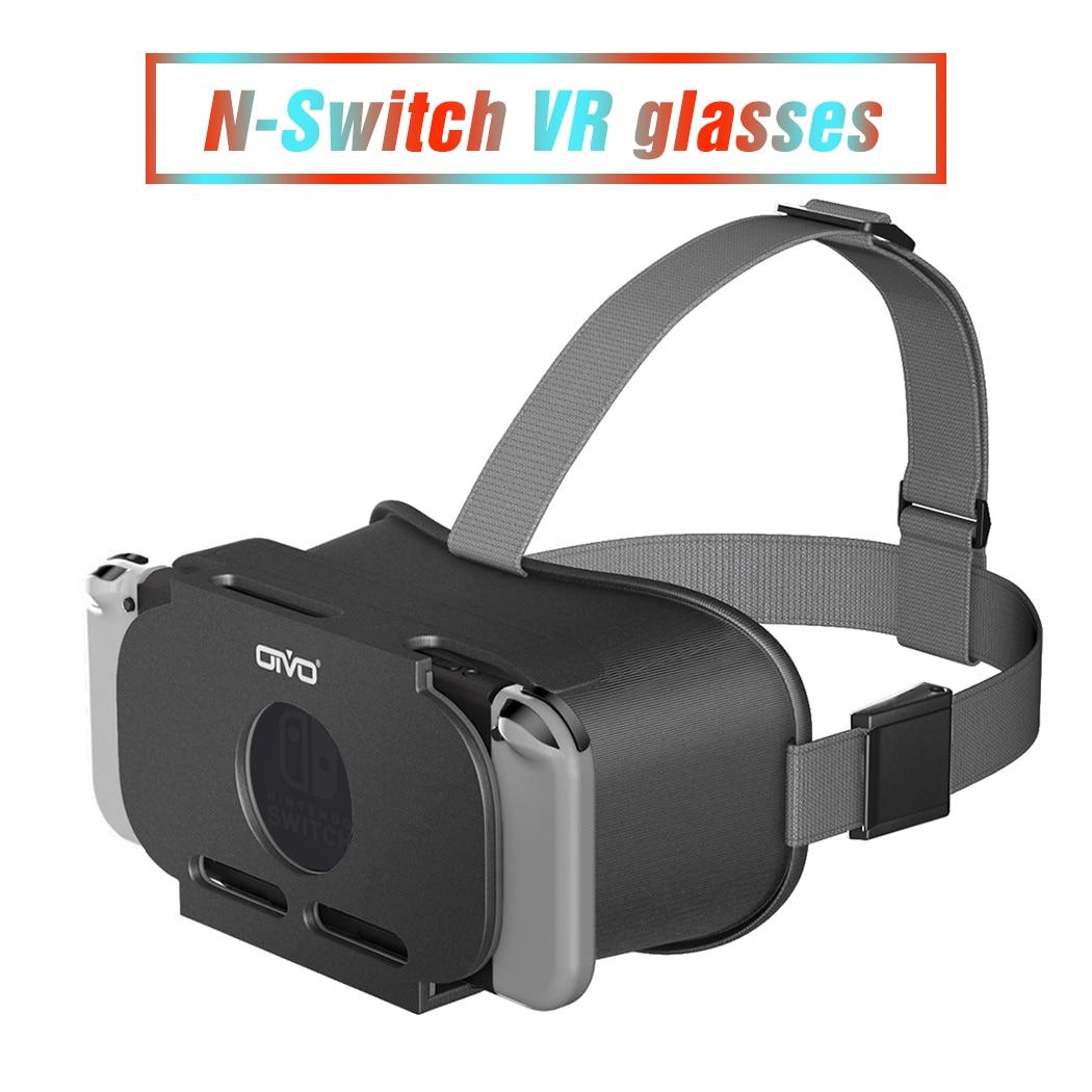 Vidros de labo vr para jogos de odyssey acessórios do n-interruptor óculos de realidade virtual 3d vr para nintendo switch lite