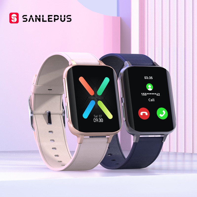 SANLEPUS 2021 New Smart Watch Men Women Bluetooth Call Watch Waterproof Smartwatch MP3 Player For OPPO Android iOS Xiaomi Huawei