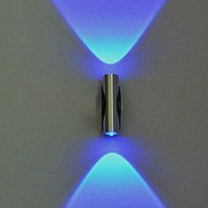 Double-headed Led Light Bedroom Blue Aluminum Wall Lamp Home Sconce Luces Led Decoracion Bar Ktv Porch Wall Ceiling Led Light