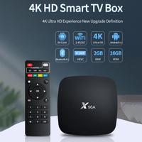 ТВ-приставка X96A Android 10.0 2,4 ГГц/5 ГГц Двухдиапазонная ТВ-приставка с Wi-Fi 2 Гб ОЗУ 16 Гб ПЗУ 3D 4K HDR10 H.265 Android телеприставка