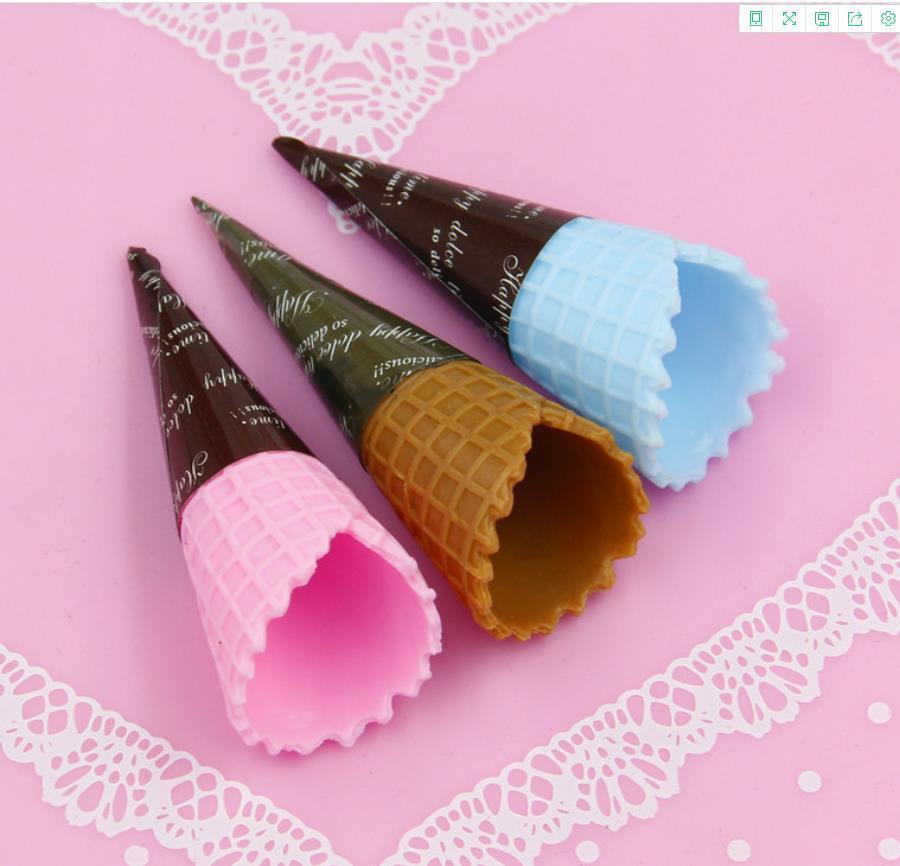Simulación 3D de conos de helado de resina cabujón decoración artesanías comida falsa en miniatura DIY adornos para álbum de recortes