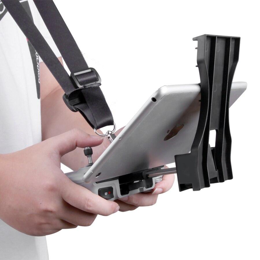 Mavic air 2 acessórios para tablet, suporte estendido para controle remoto com alça cinto para drone dji mavic air 2