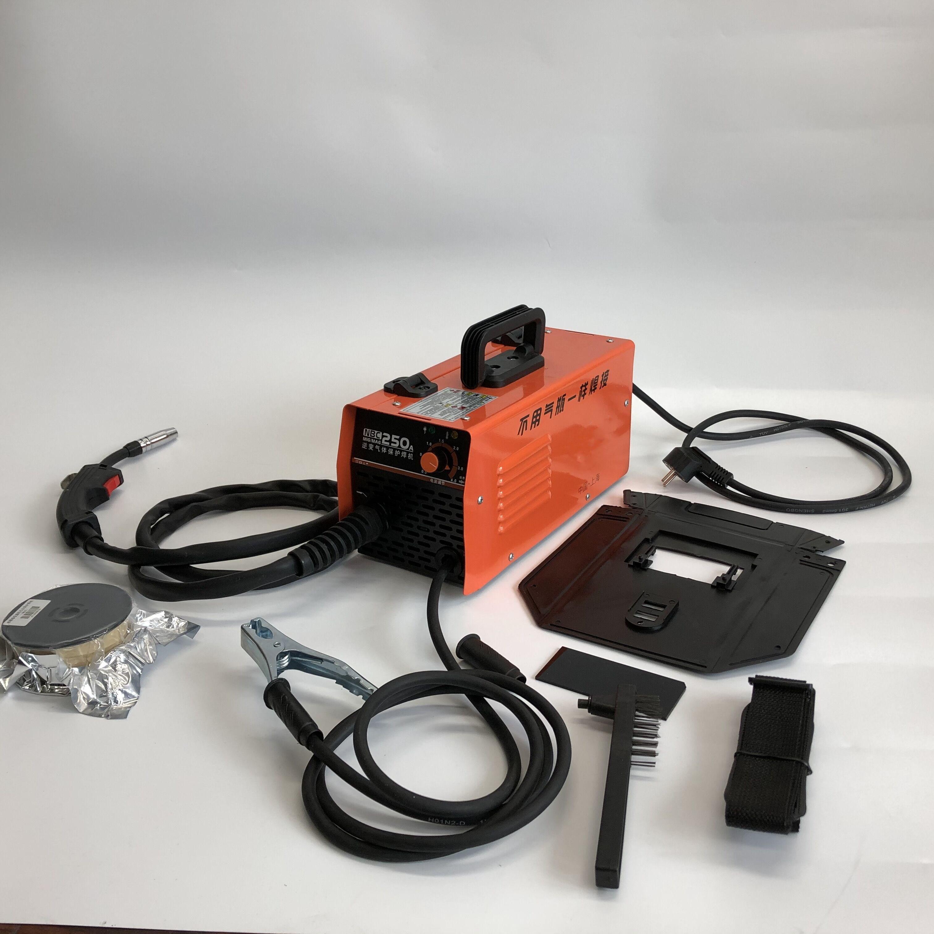 RU التسليم 220 فولت المنزلية بدون هواء اثنين من واقية لحام كهربائي ثاني أكسيد الكربون الغاز محمية لحام كهربائي 5.5KW