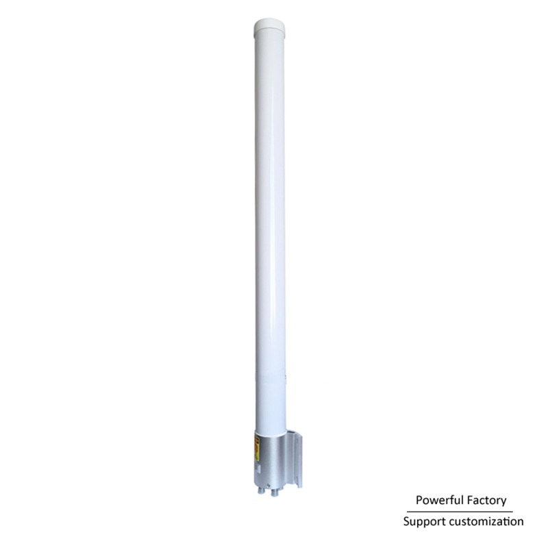 2,4g, 5,8g, cilindro blanco, resistente al agua, conectores 4 N, antena Omni de fibra de vidrio para exteriores con 10dBi 1 Uds