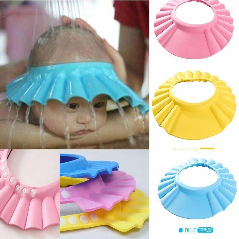 Adjustable Baby Kids Shampoo Bath Bathing Shower Cap Hat Wash Hair Shield Protect Soft Cap Hat